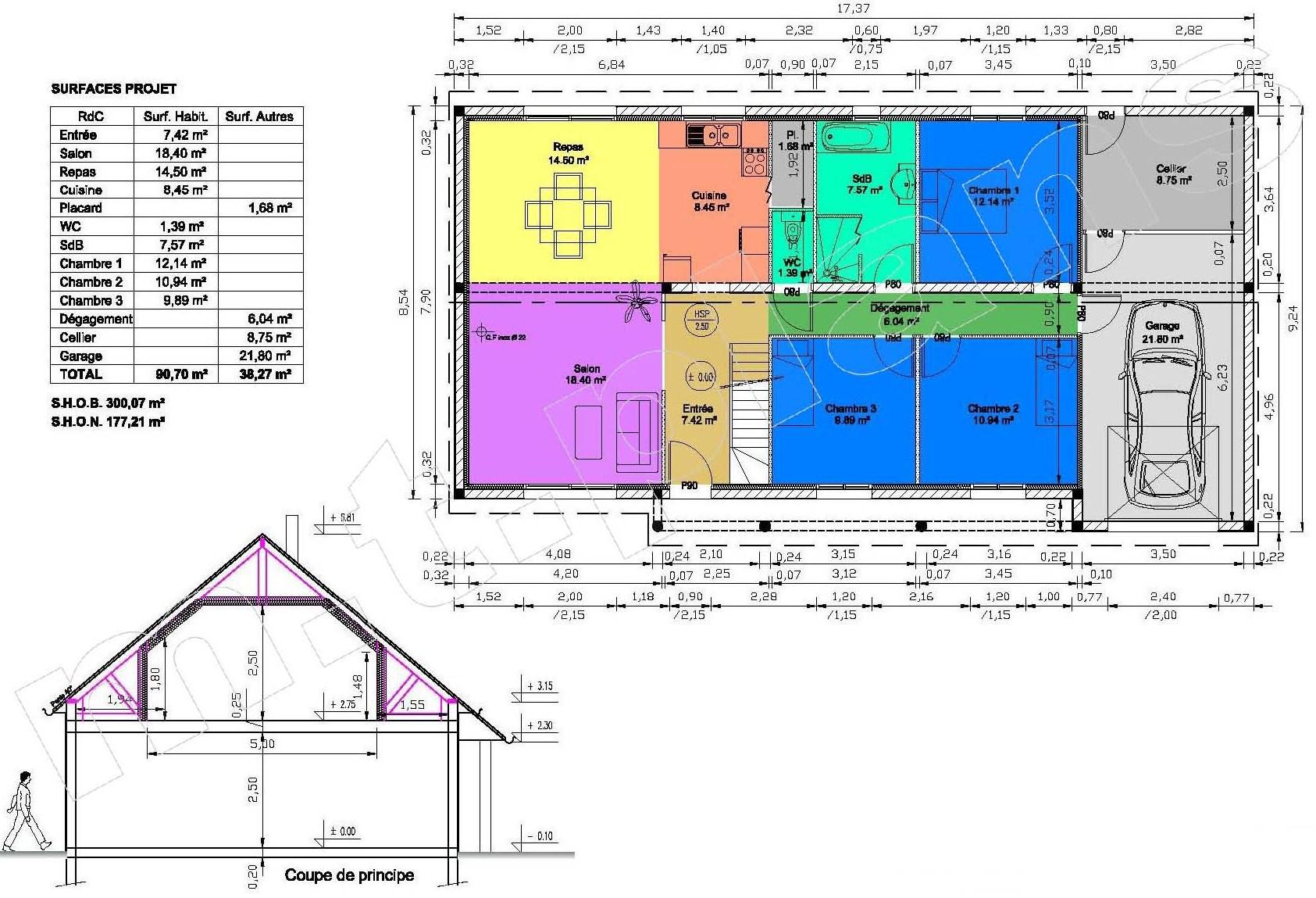 Maison individuelle sur plan maison moderne Maison individuelle plan